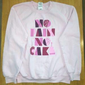 Sweaters - Light Pink Graphic Cake Crewneck Sweatshirt